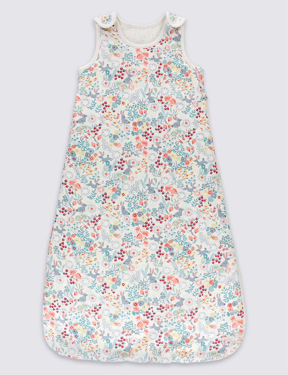 Pure Cotton Floral 2.2 Tog Sleeping Bag