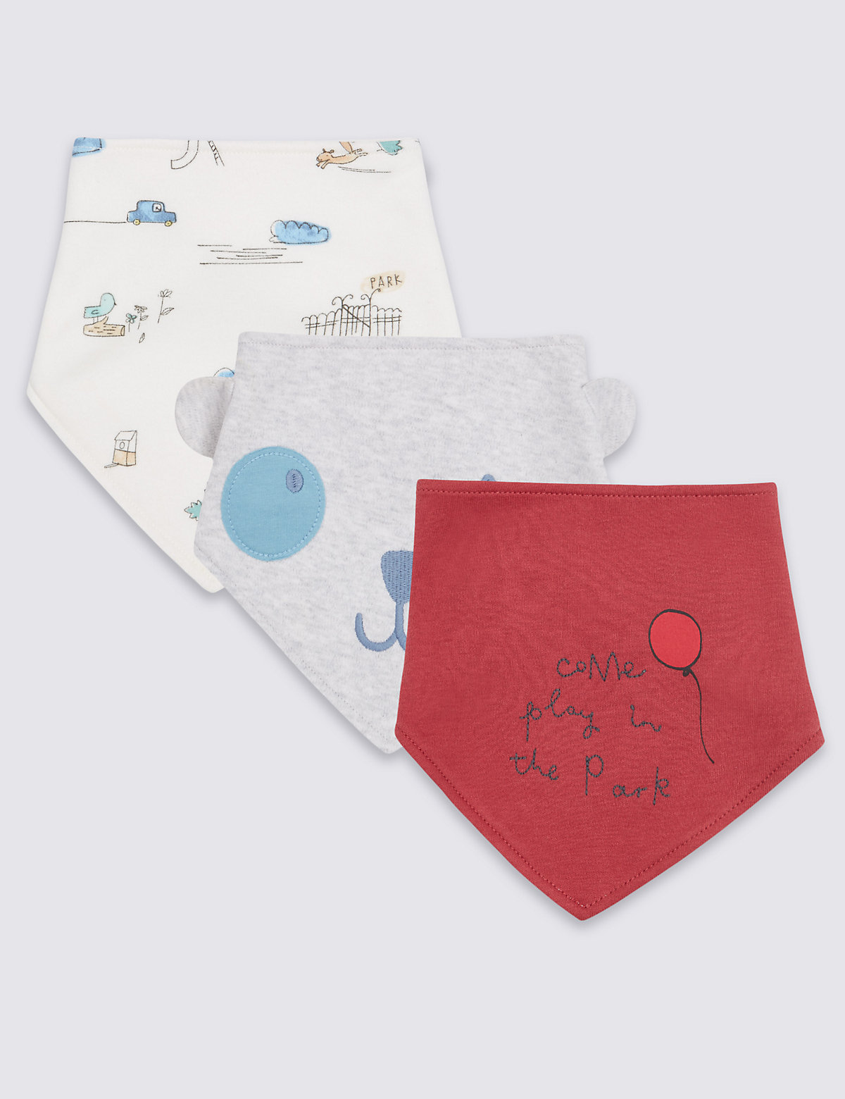 3 Pack Pure Cotton Bibs