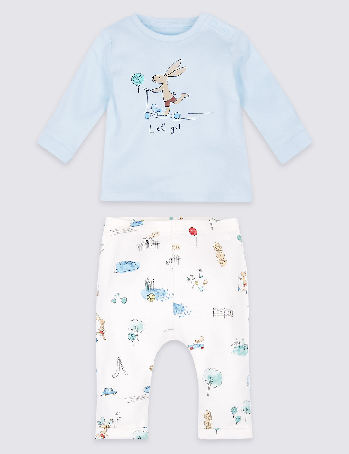 2 Piece Pure Cotton Top & Bottom Outfit