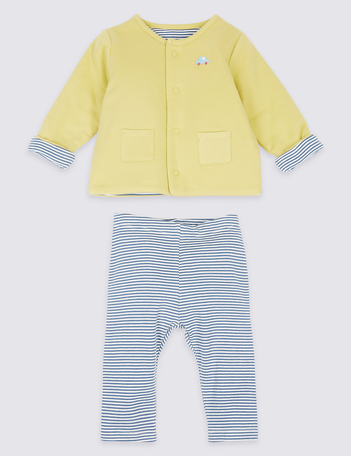 2 Piece Pure Cotton Jacket & Trousers Outfit