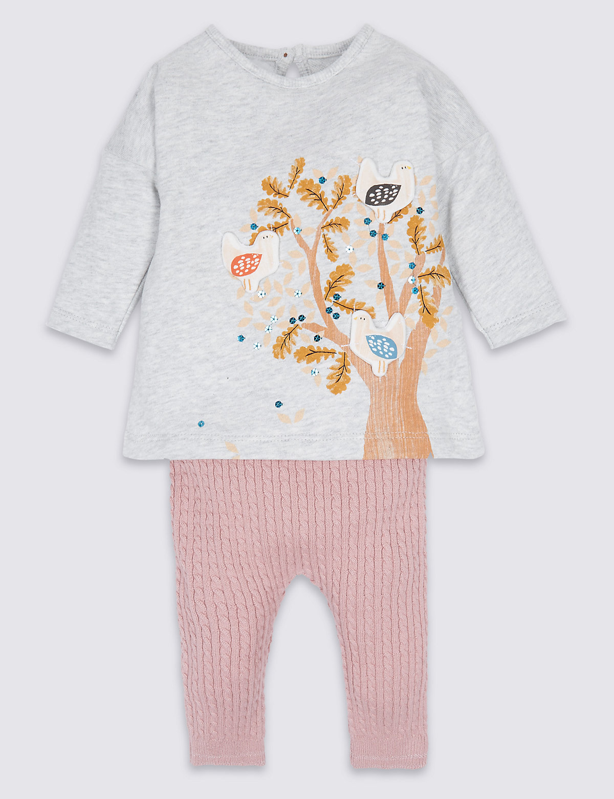2 Piece Pure Cotton Baby Dress with Leggings
