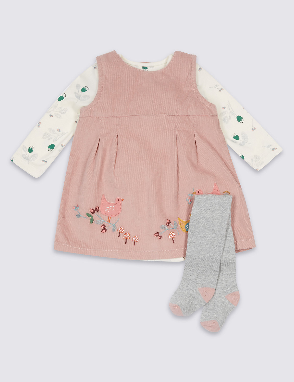 3 Piece Dress & Bodysuit with Tights Outfit