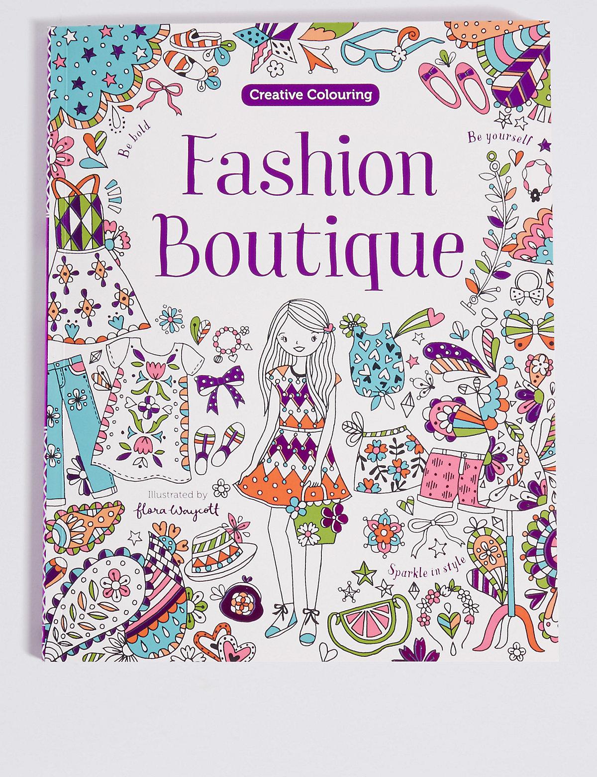 Fashion Boutique Colouring Book