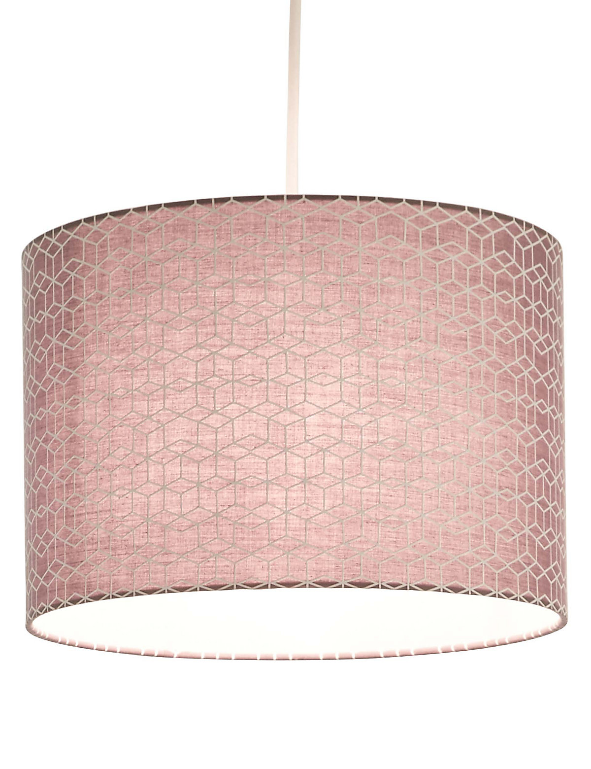 Image of LOFT Geometric Patterned Drums Lamp Shade