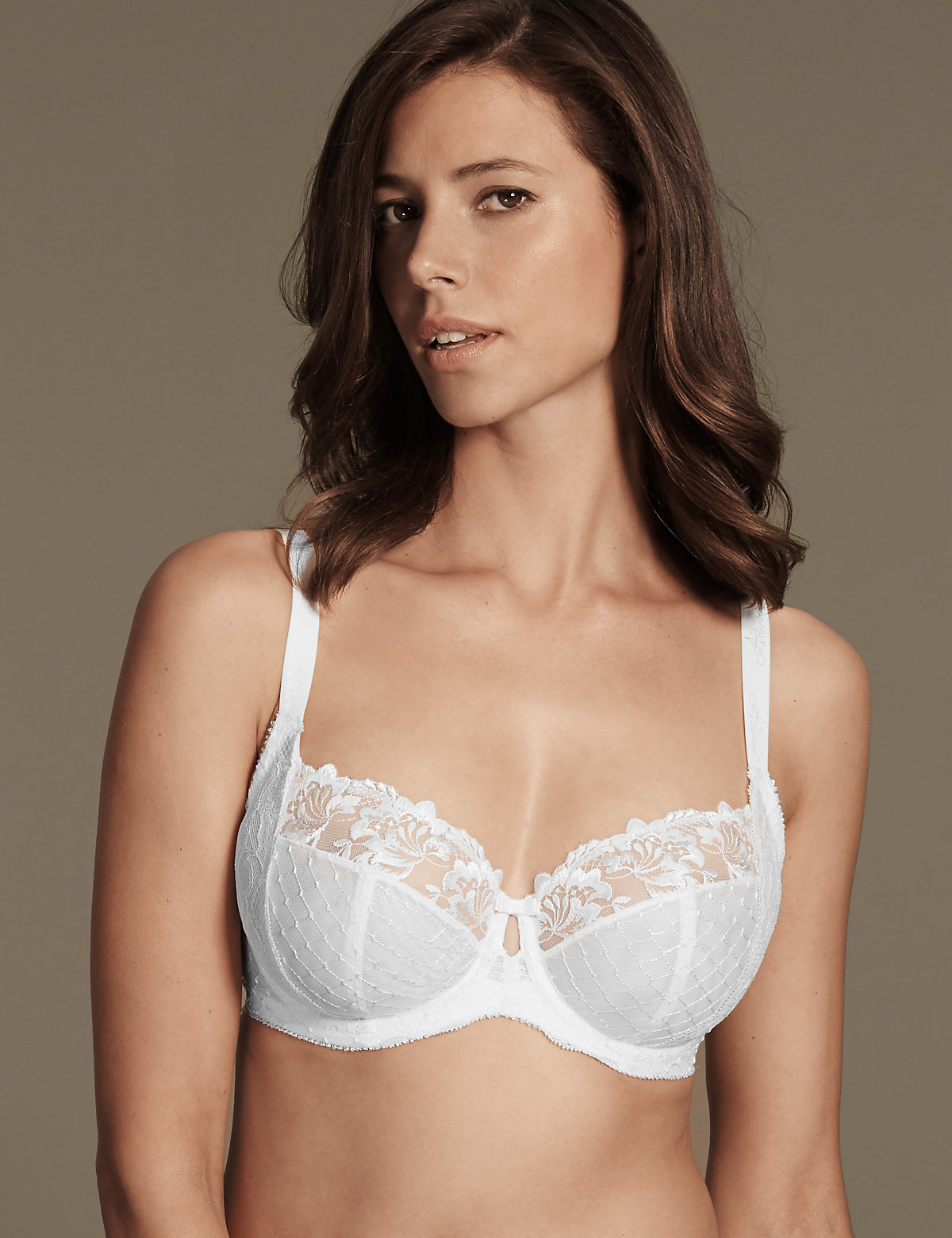 Adored Ophelia Embroidered Non Padded Balcony Bra DD-GG with Cool Comfort Technology