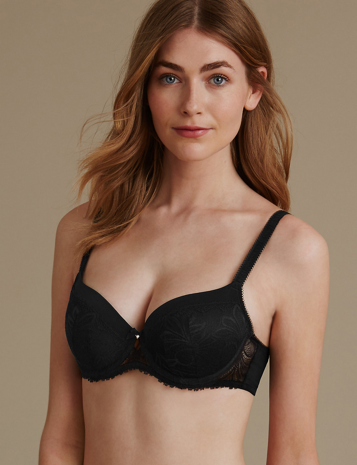 M&s Collection Arelia Lace Padded Underwired Balcony Bra A-e