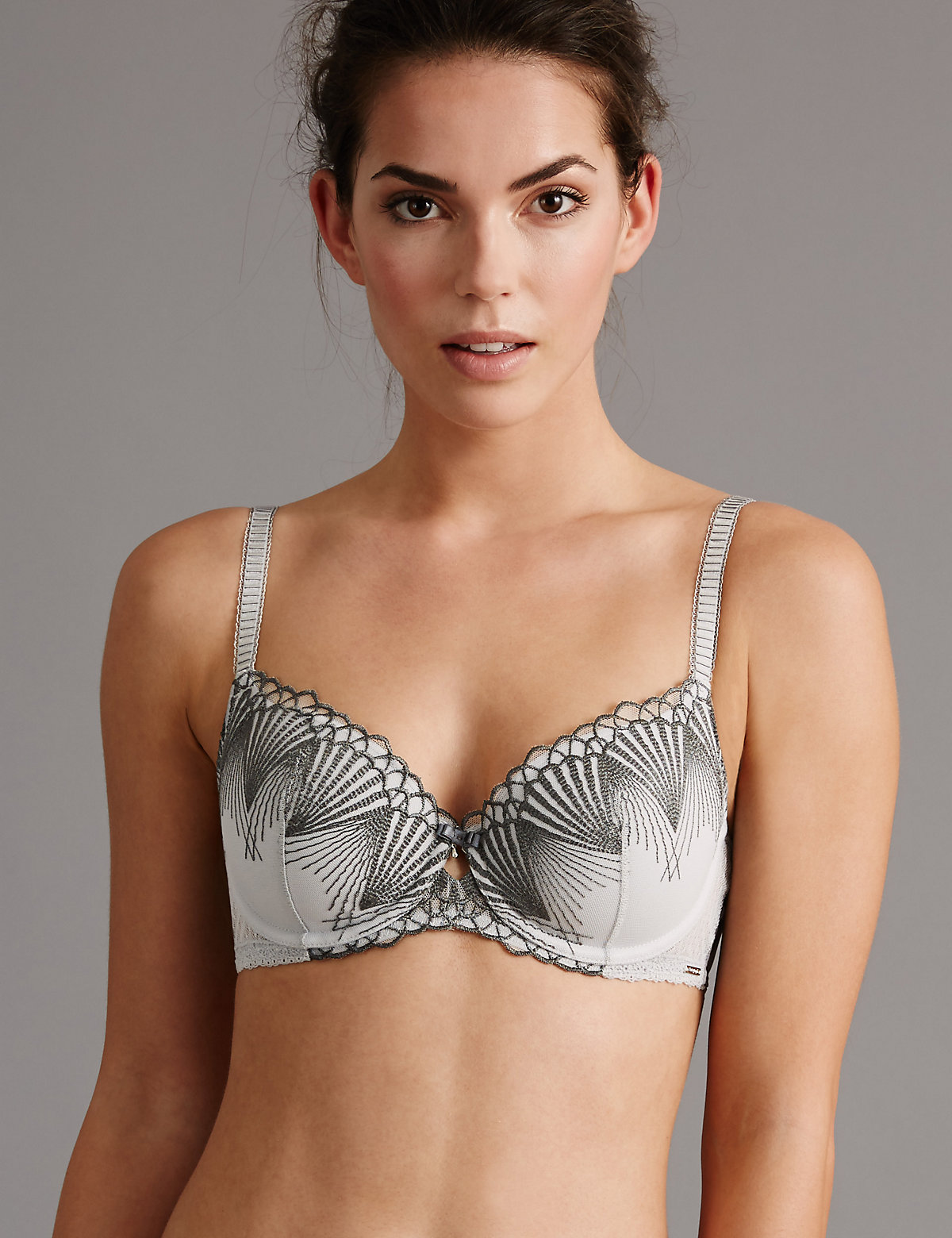 Autograph Embroidered Padded Balcony Bra A-E