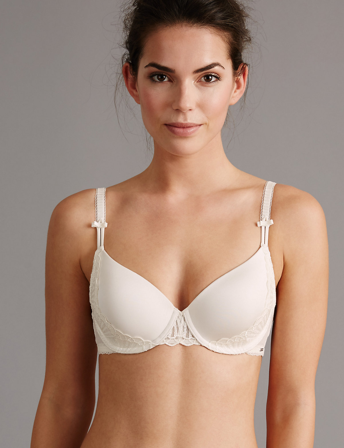 Autograph Embroidered Padded Plunge Bra A-E