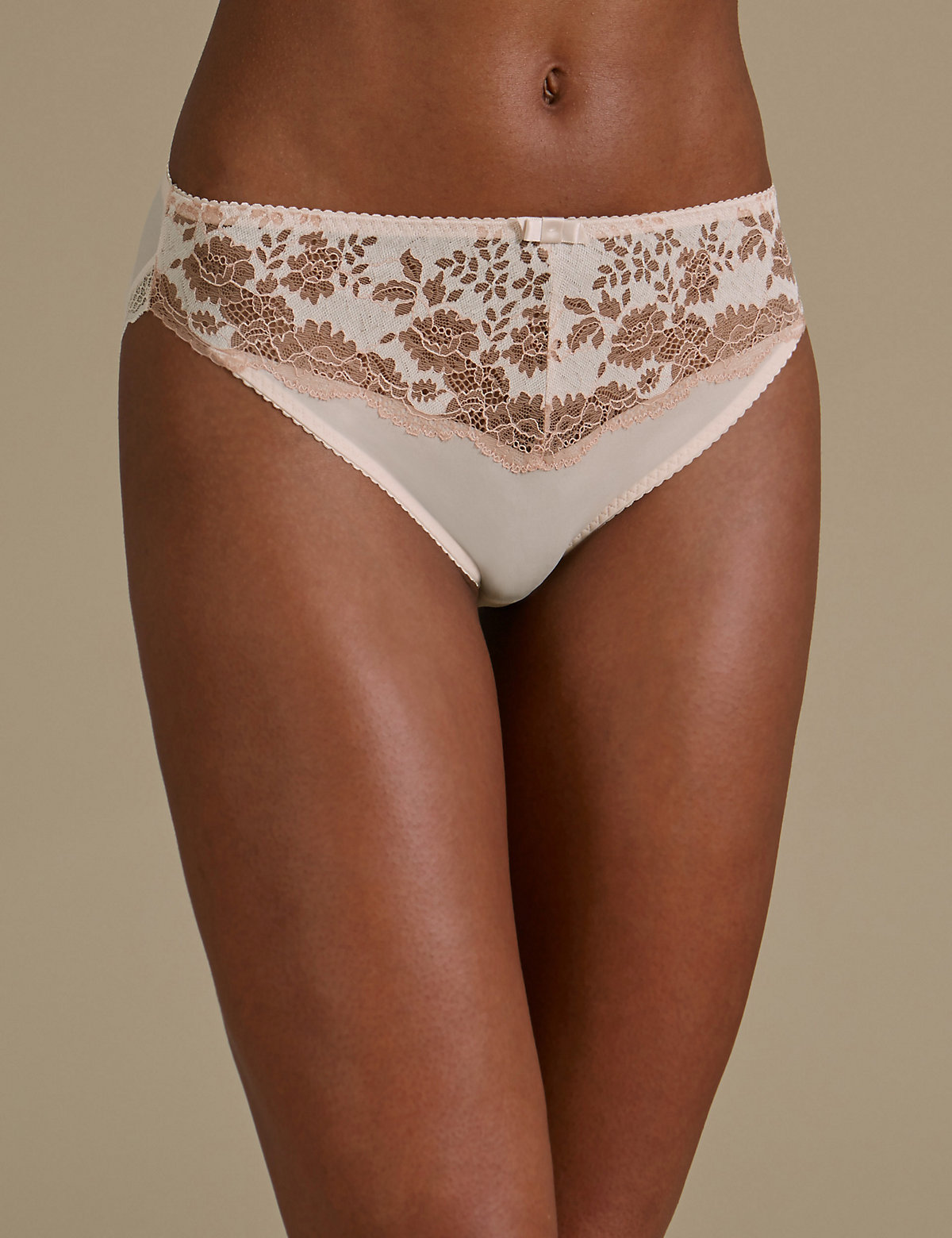 M&S Collection Artisan Lace High Leg Knickers