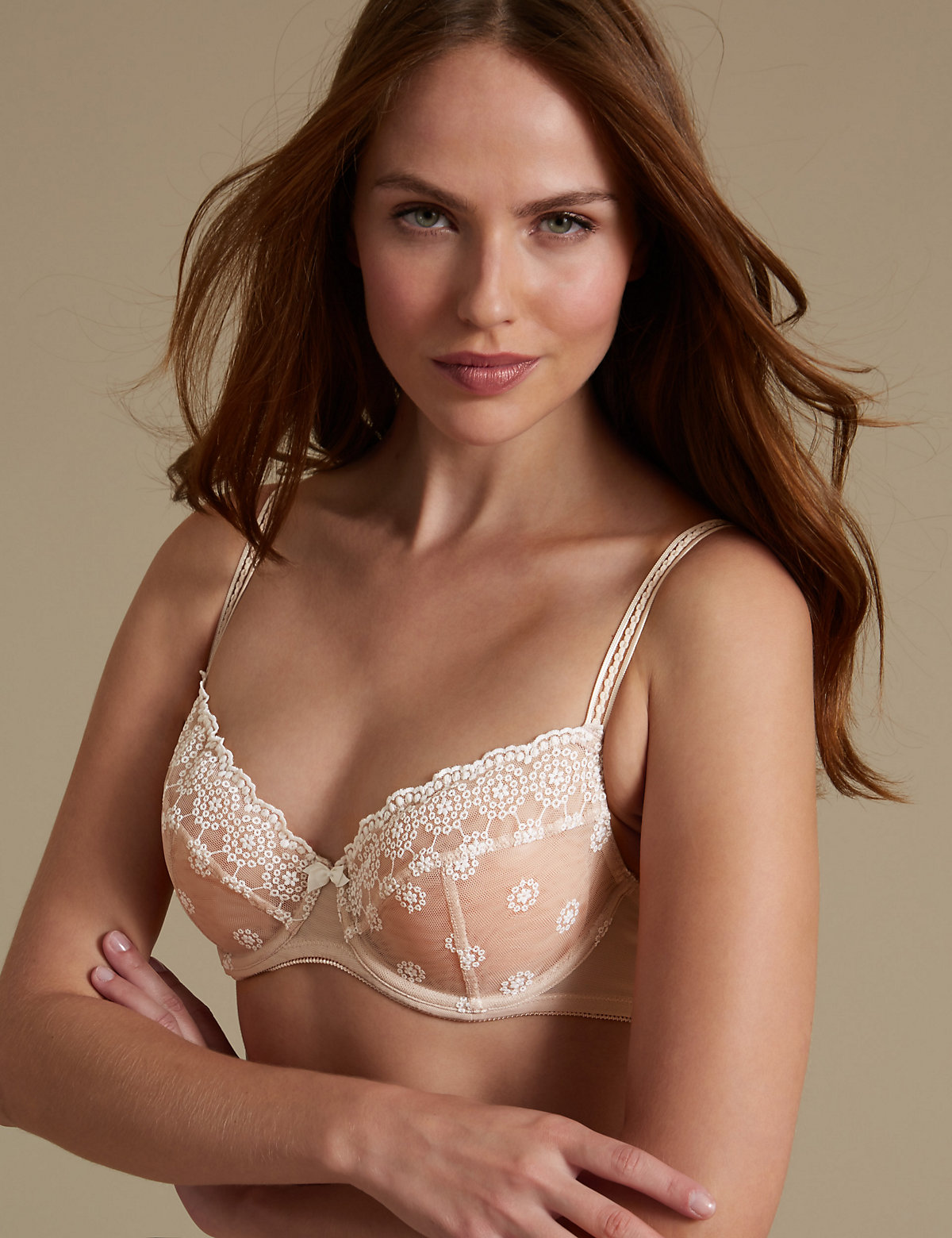 M&s Collection 2 Pack Embroidered Non Padded Balcony Bra A-e
