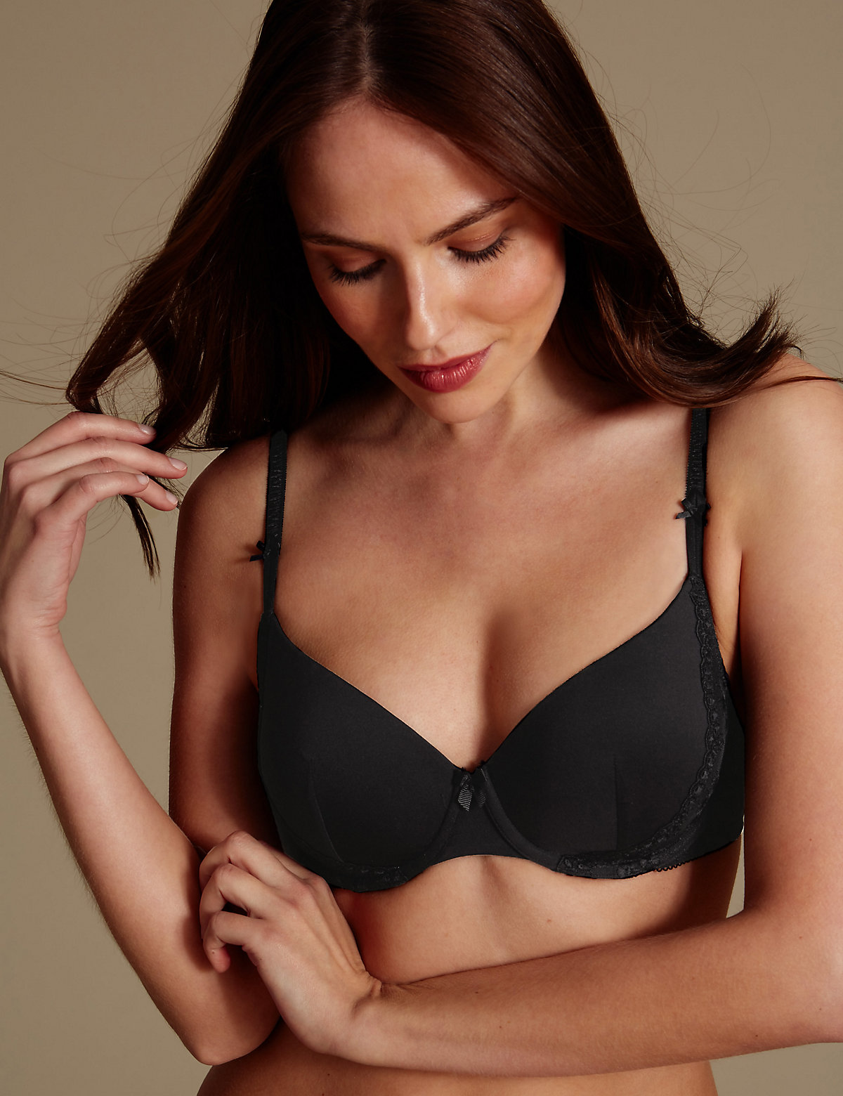 M&S Collection 2 Pack Smoothing Padded Plunge Bra A-E