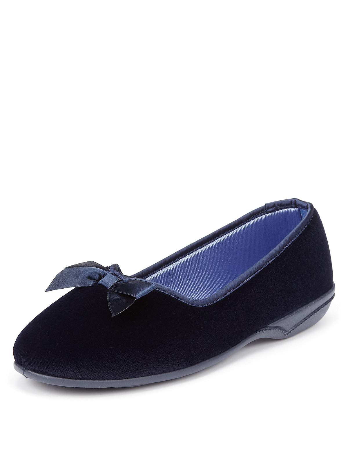 M&S Collection Slip-On Bow Slippers
