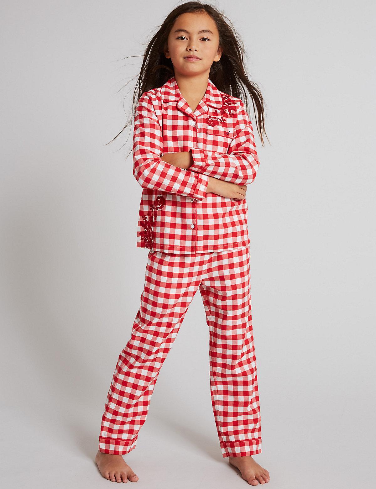 Autograph Pure Cotton Checked Pyjamas (1-16 Years)