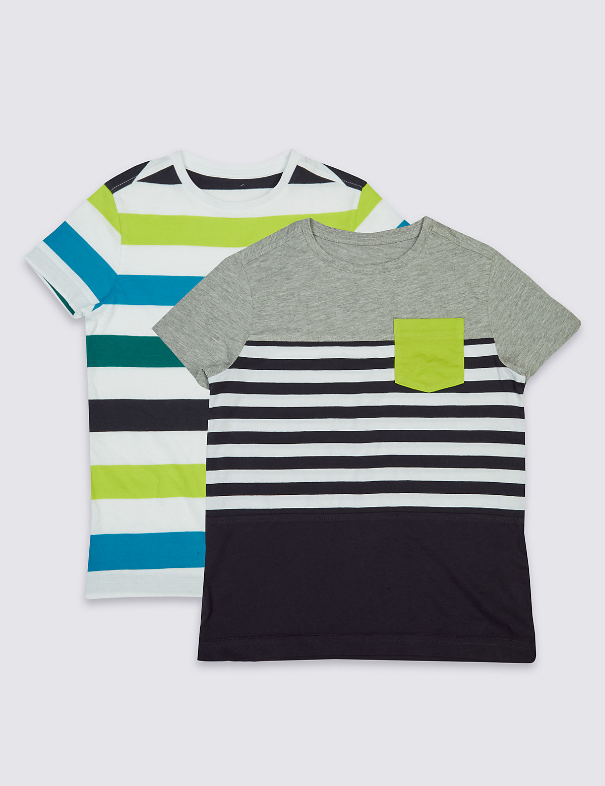 2 Pack Striped TShirts (314 Years)