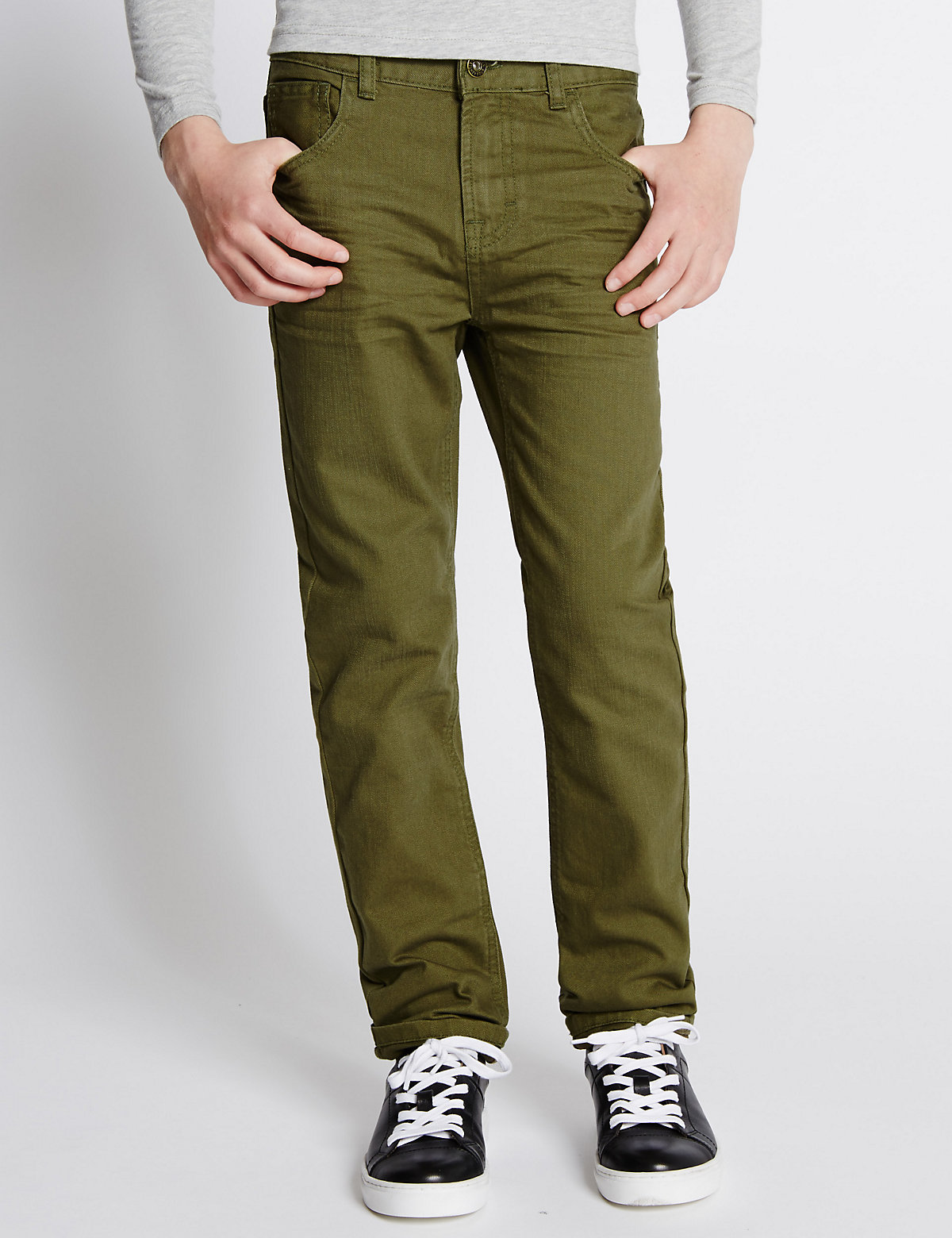 Pure Cotton Slim Fit Jeans (5-14 Years)