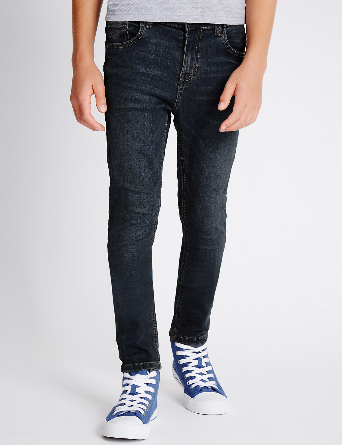 Cotton Rich Dark Denim Jeans (3-14 Years)