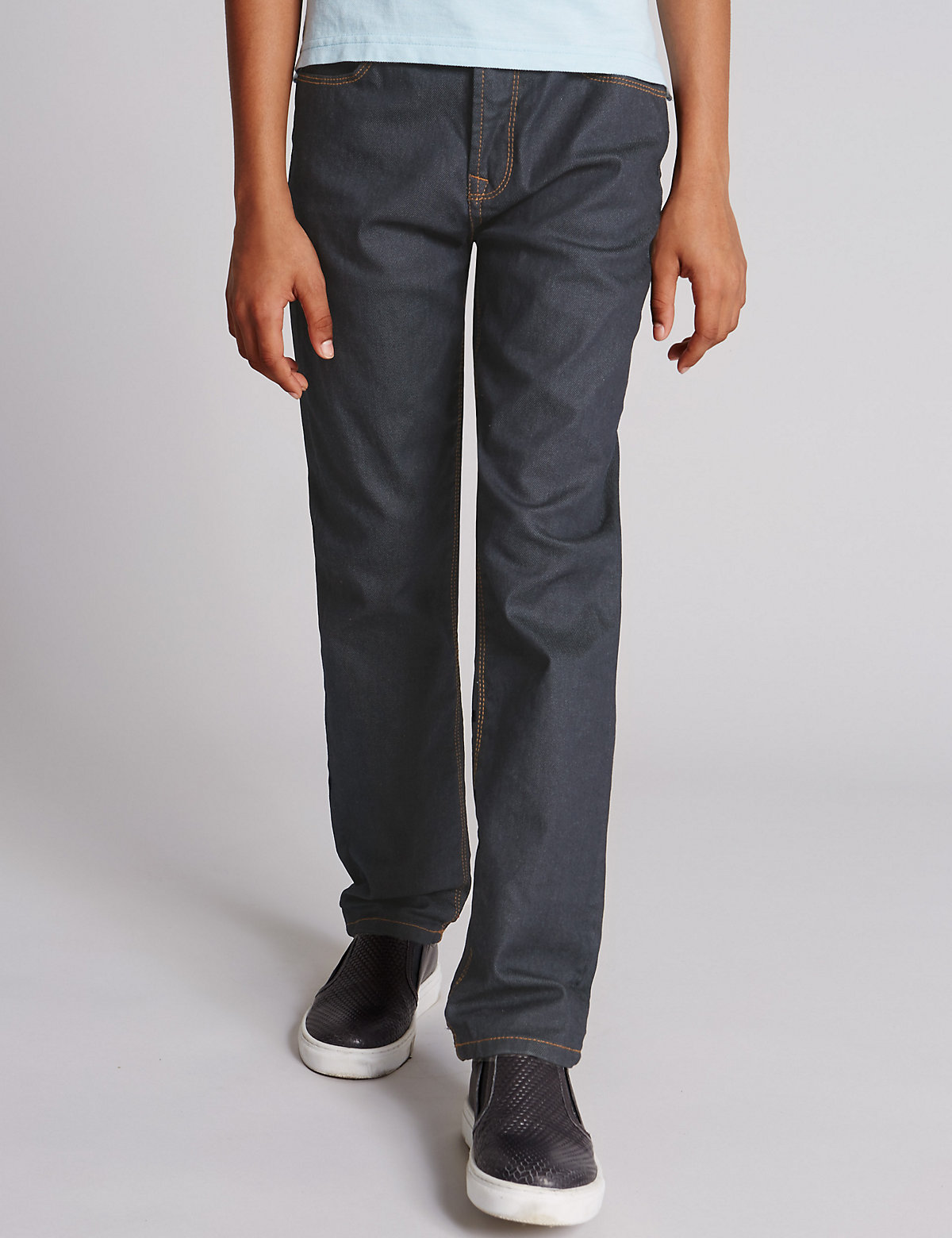 Autograph Cotton with Stretch Regular Jeans with StayNEW (5-14 Years)