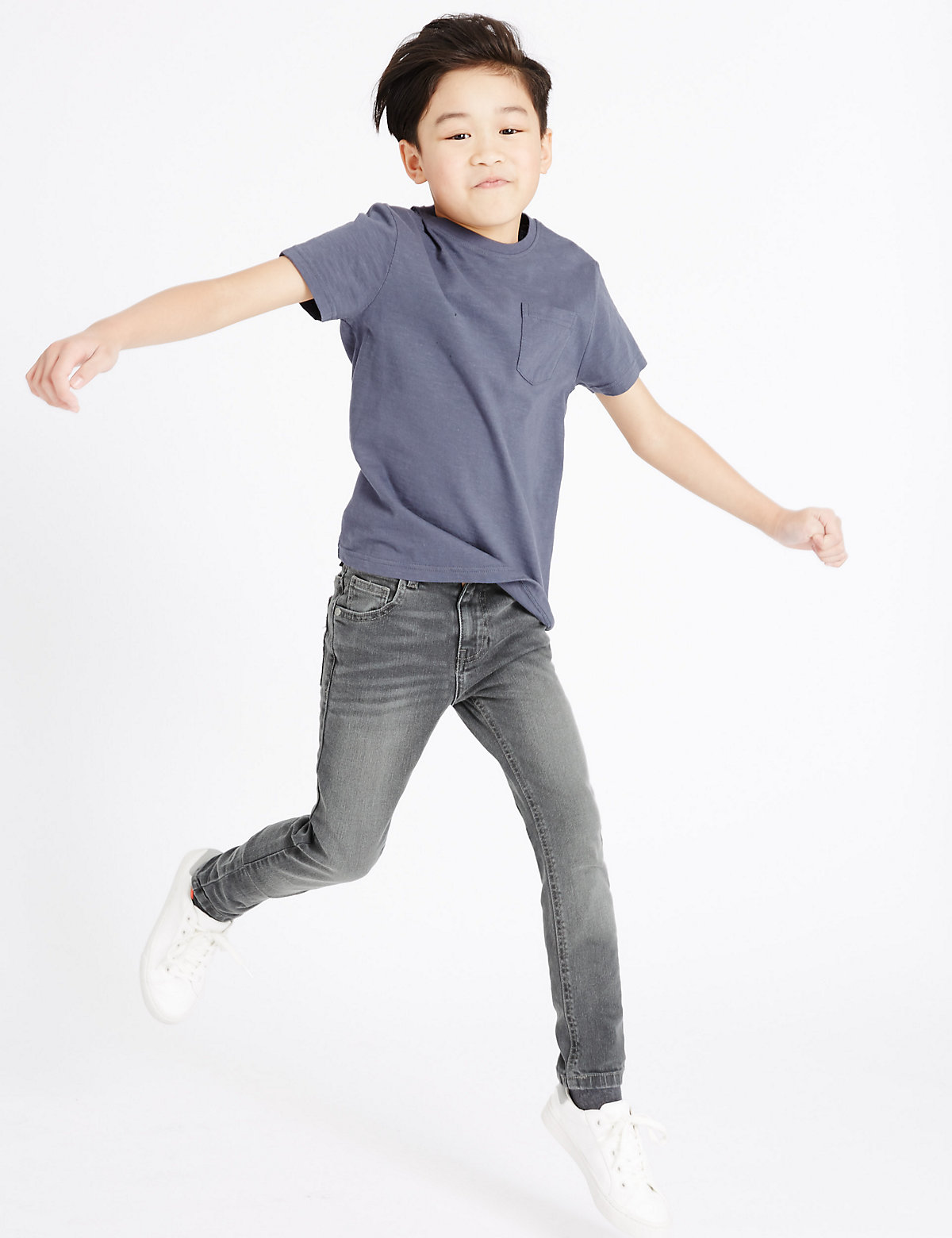 Cotton Rich Adjustable Slim Denim Jeans (3-14 Years)