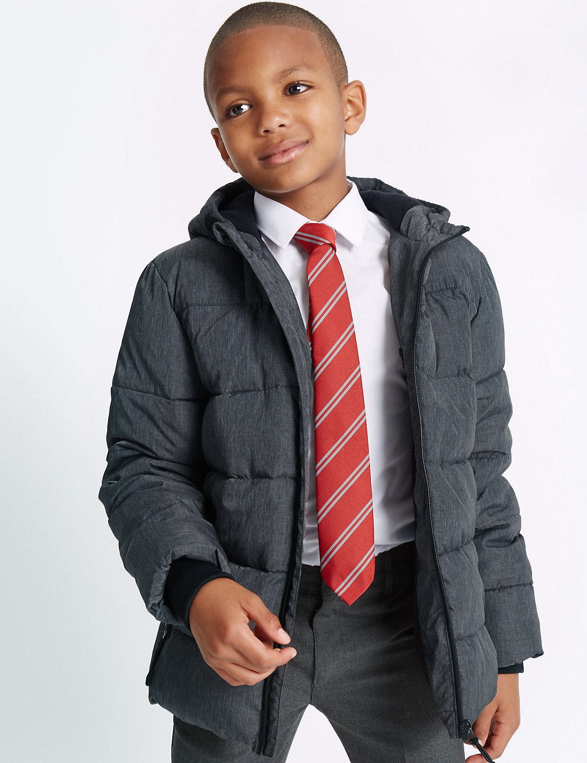 Hooded Zip Through Coat with Stormwear (3-14 Years)