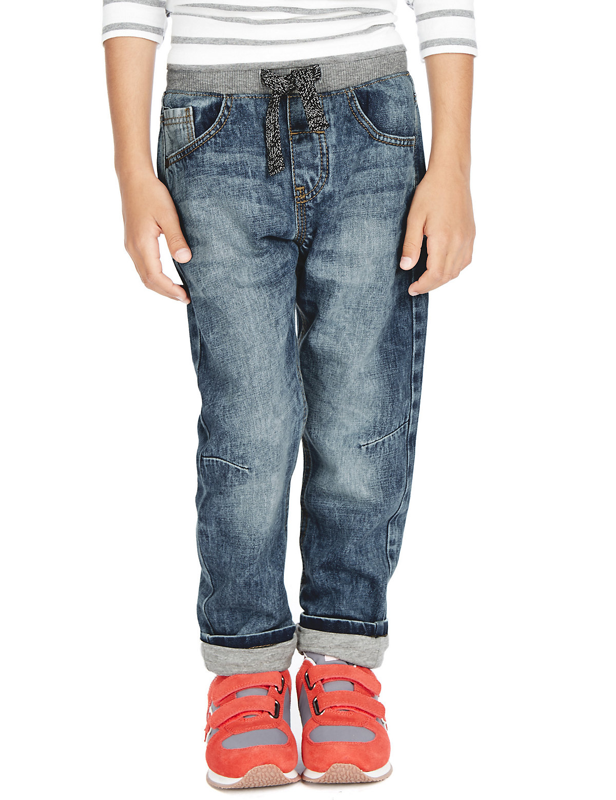 Pure Cotton Pull On Denim Jeans (1-7 Years)