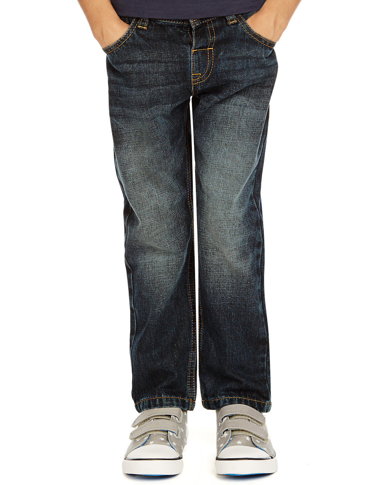 Pure Cotton Adjustable Waist Denim Jeans (1-7 Years)