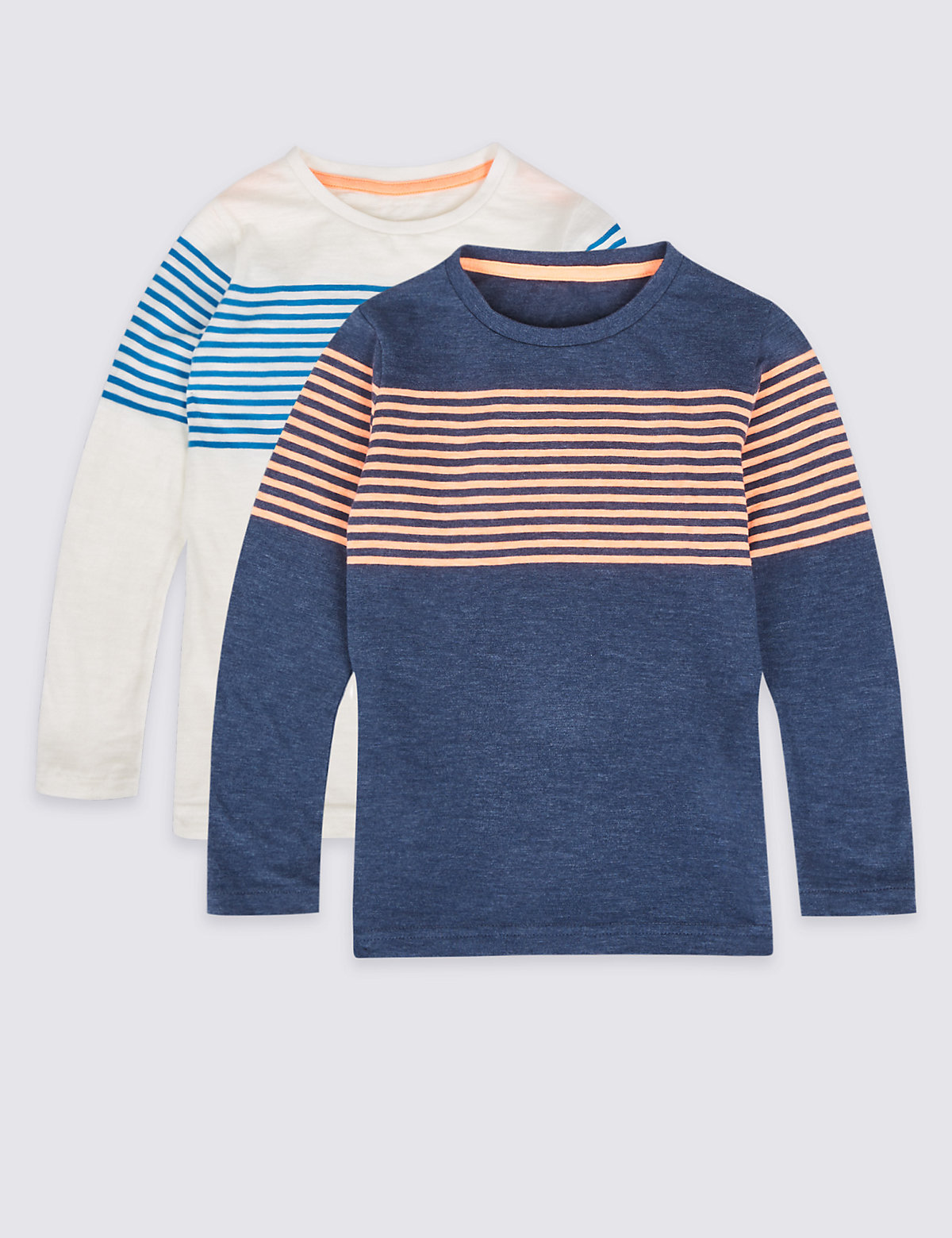 2 Pack Striped Tops (3 Months - 6 Years)