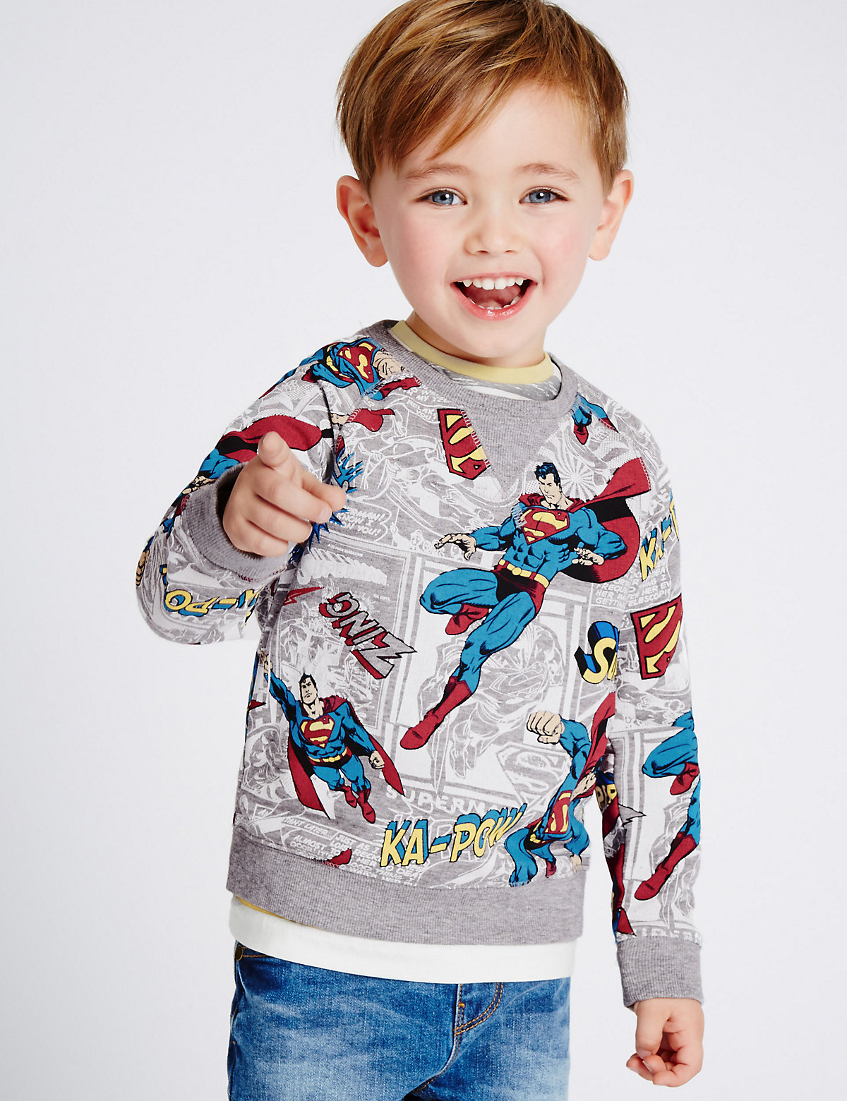 Cotton Rich Superman Sweatshirt (3 Months  5 Years)
