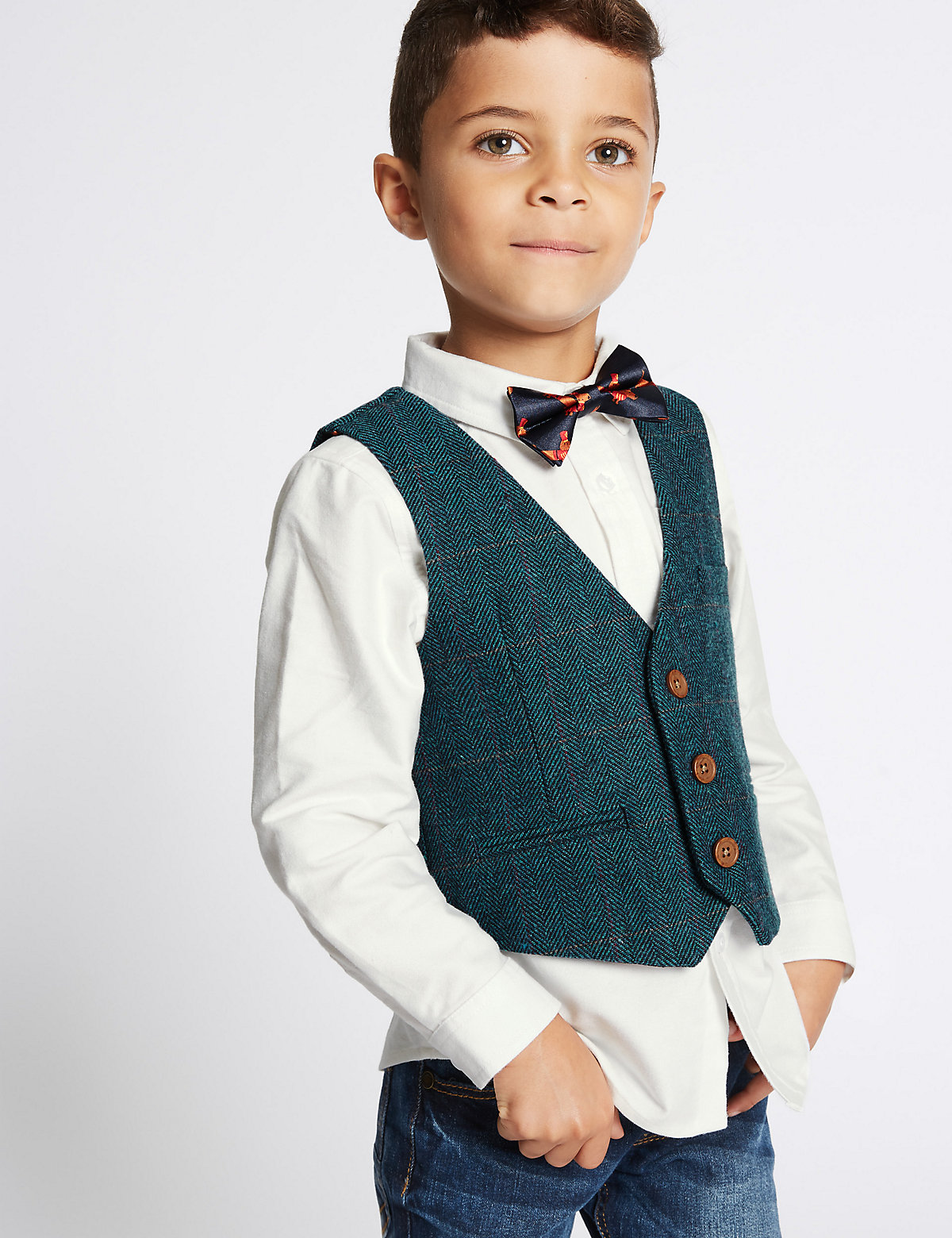 3 Piece Waistcoat & Shirt with Bow Tie (3 Months - 6 Years)