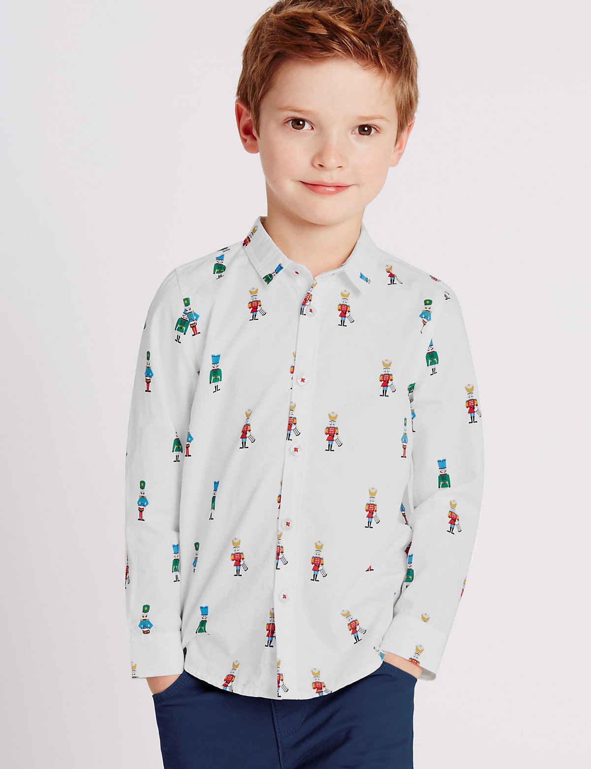 Image of All Over Soldier Print Shirt (1-7 Years)