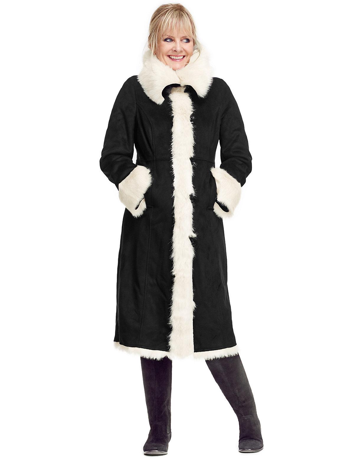 Twiggy for M&S Collection Twiggy for M&S Collection Faux Shearling Coat