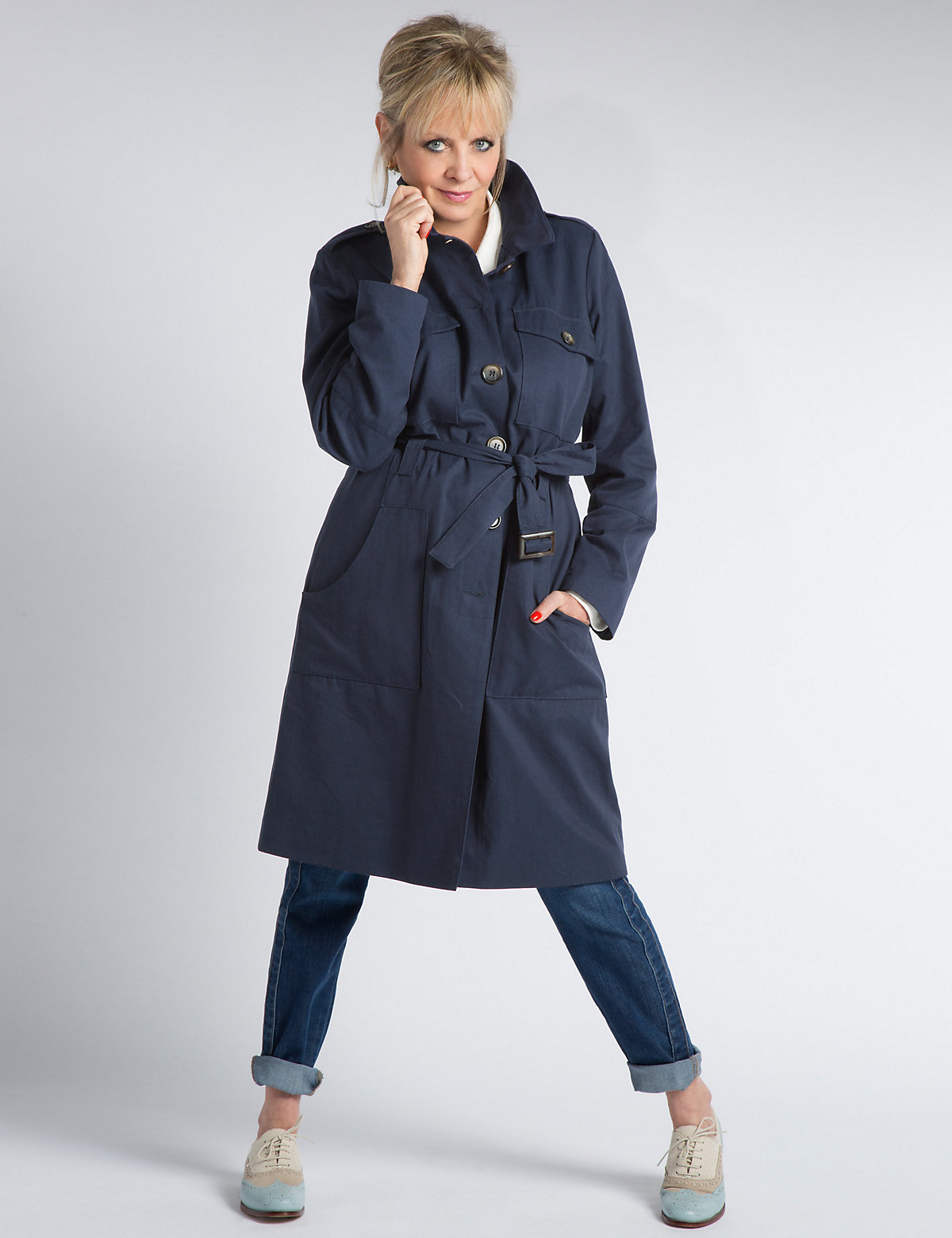 Image of Twiggy Belted Trench Coat