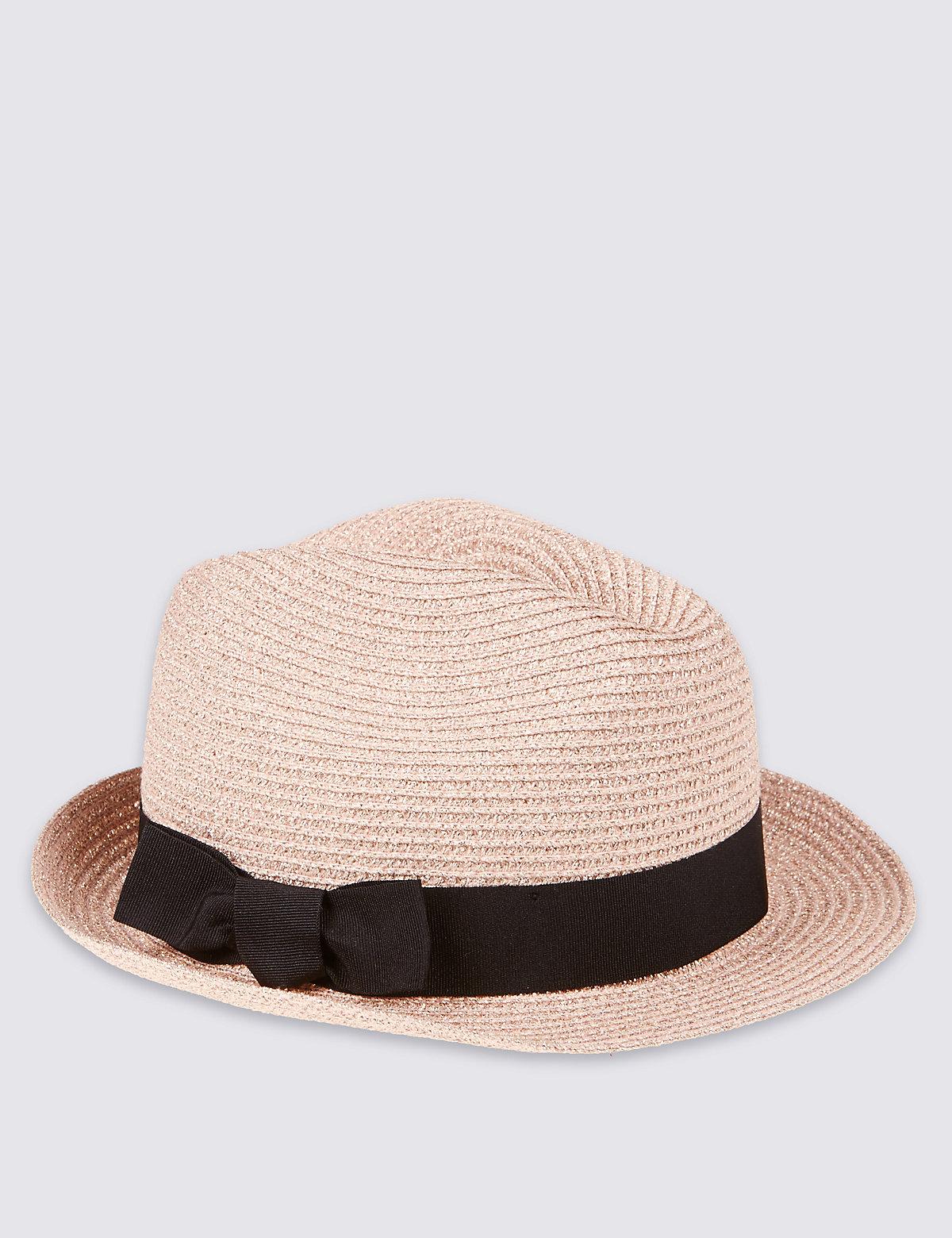 Kids Glitter Foldable Trilby Hat