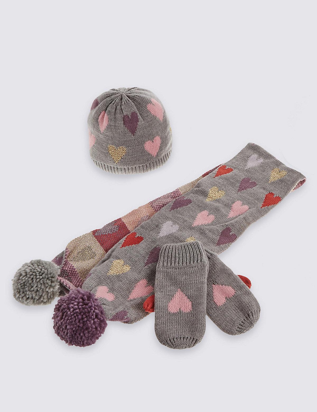 Kids' Hat, Scarf & Gloves Set