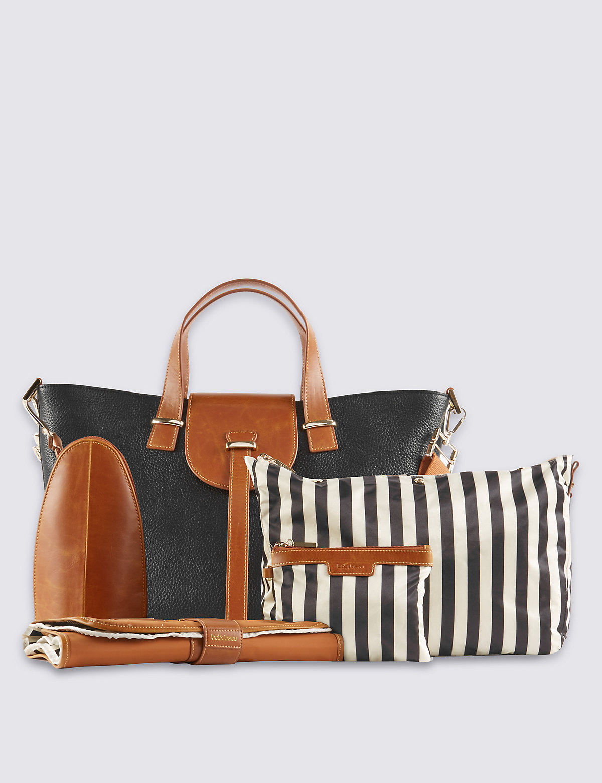 BabyBeau Leather Ellie Changing Bag