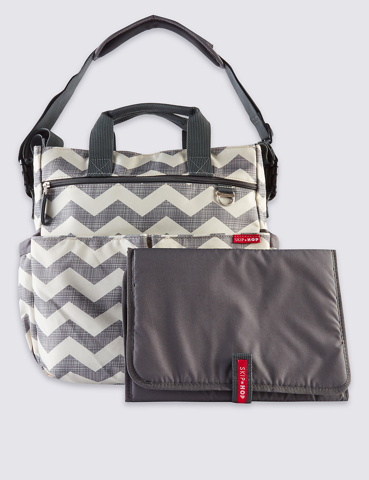 Skip Hop Duo Signature Chevron Changing Bag