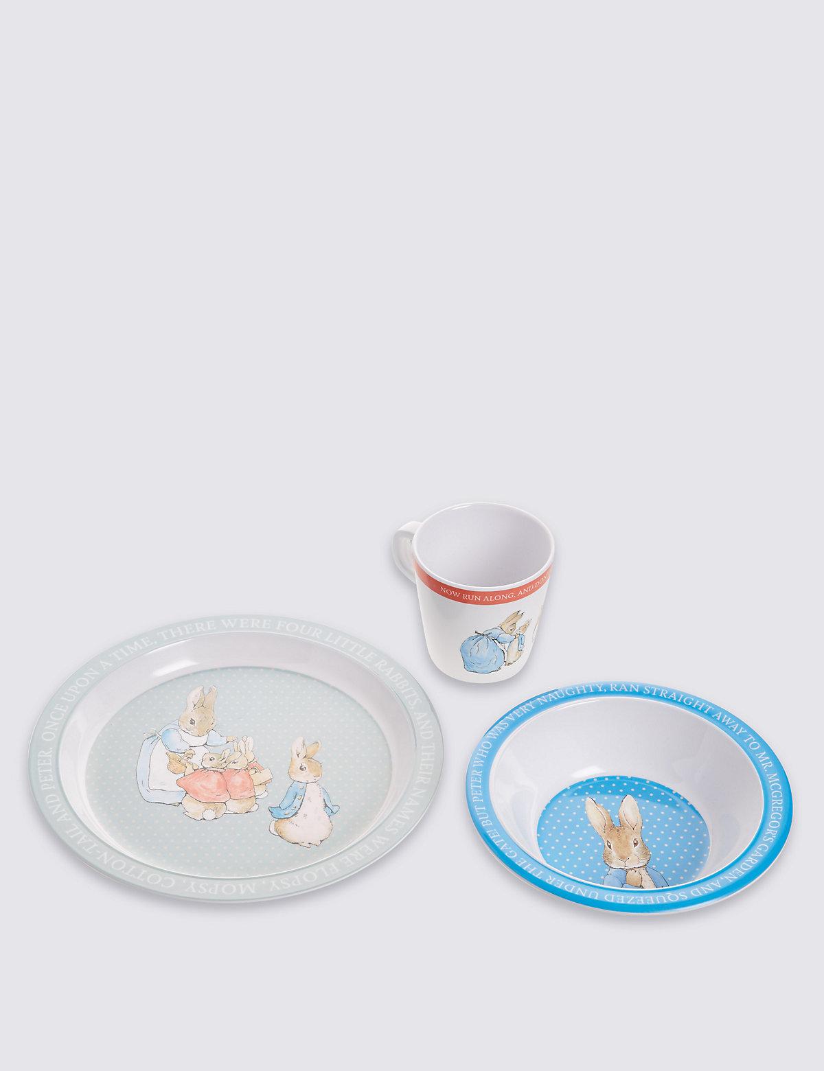 Peter Rabbit Melamine Tableware Set