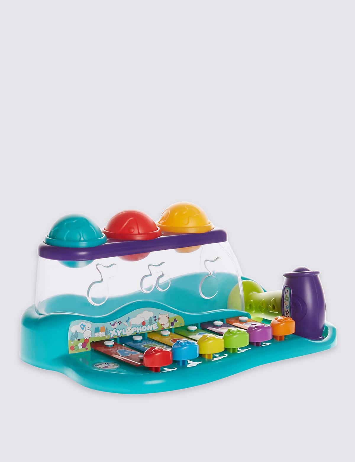 Kids Interactive Ball & Hammer Xylophone