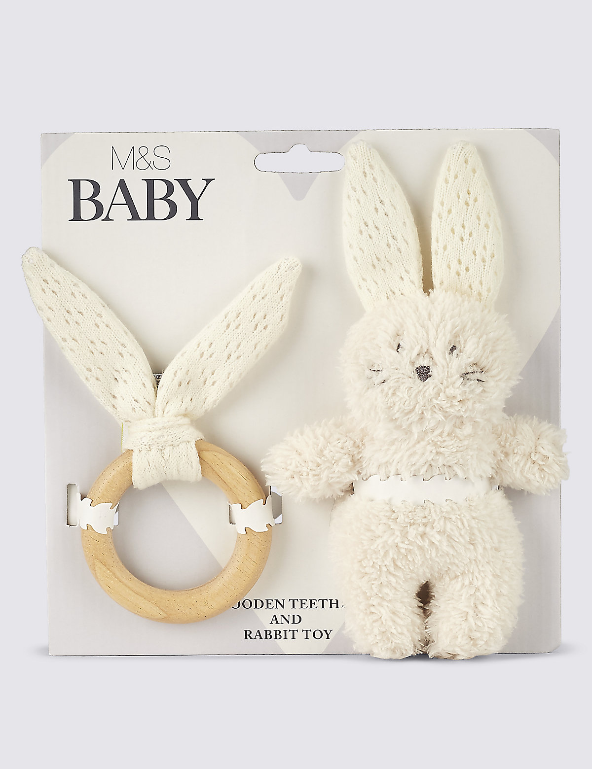 Bunny Teether Gift Set Cream