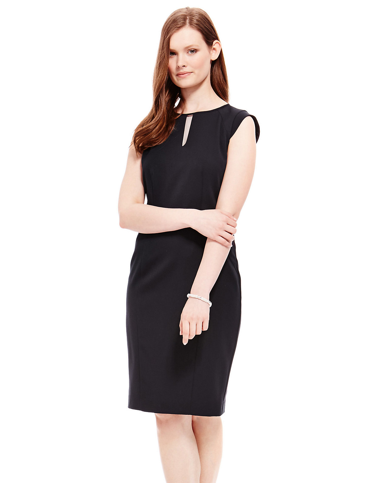 M&S Collection PETITE Origami Pleated Waist Shift Dress
