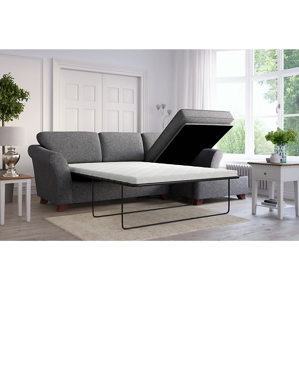 Abbey Corner Chaise Storage Sofa Bed (Right Hand)