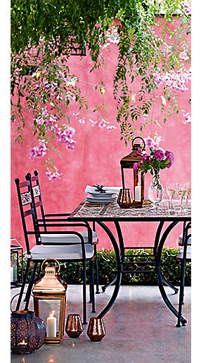 A garden table and chairs