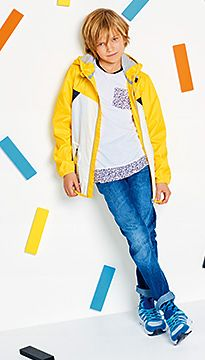 Boy wears M&S jeans and jacket