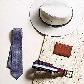 Still life of mens accessories
