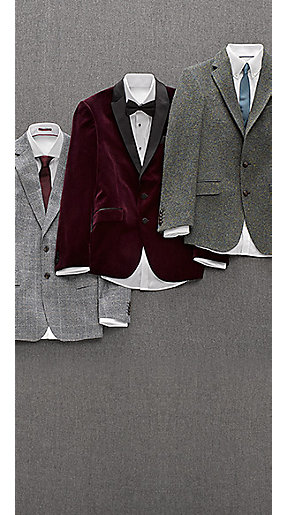Still life of three mens blazers