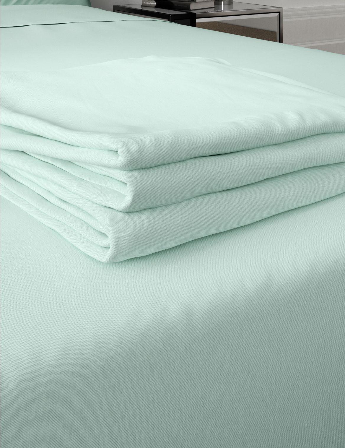 Comfortably Cool Cotton & Tencel® Blend Flat Sheet duck egg