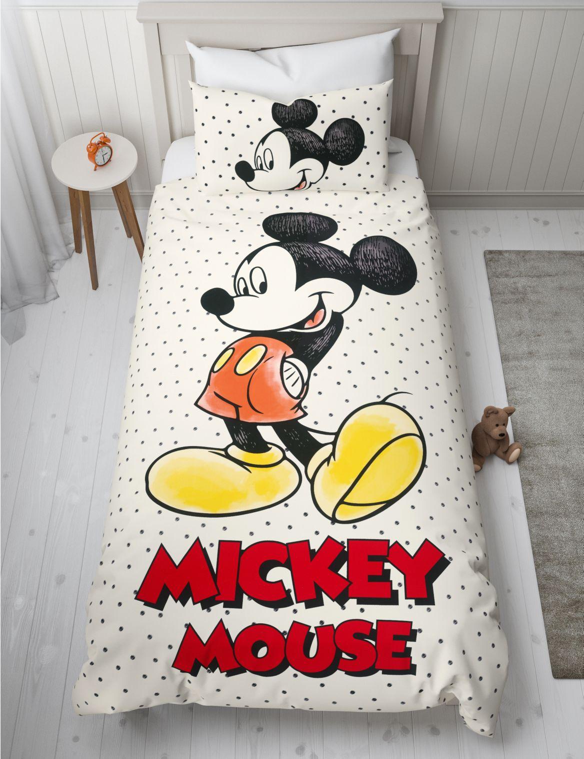 Mickey Mouse™ Reversible Bedding Set black mix
