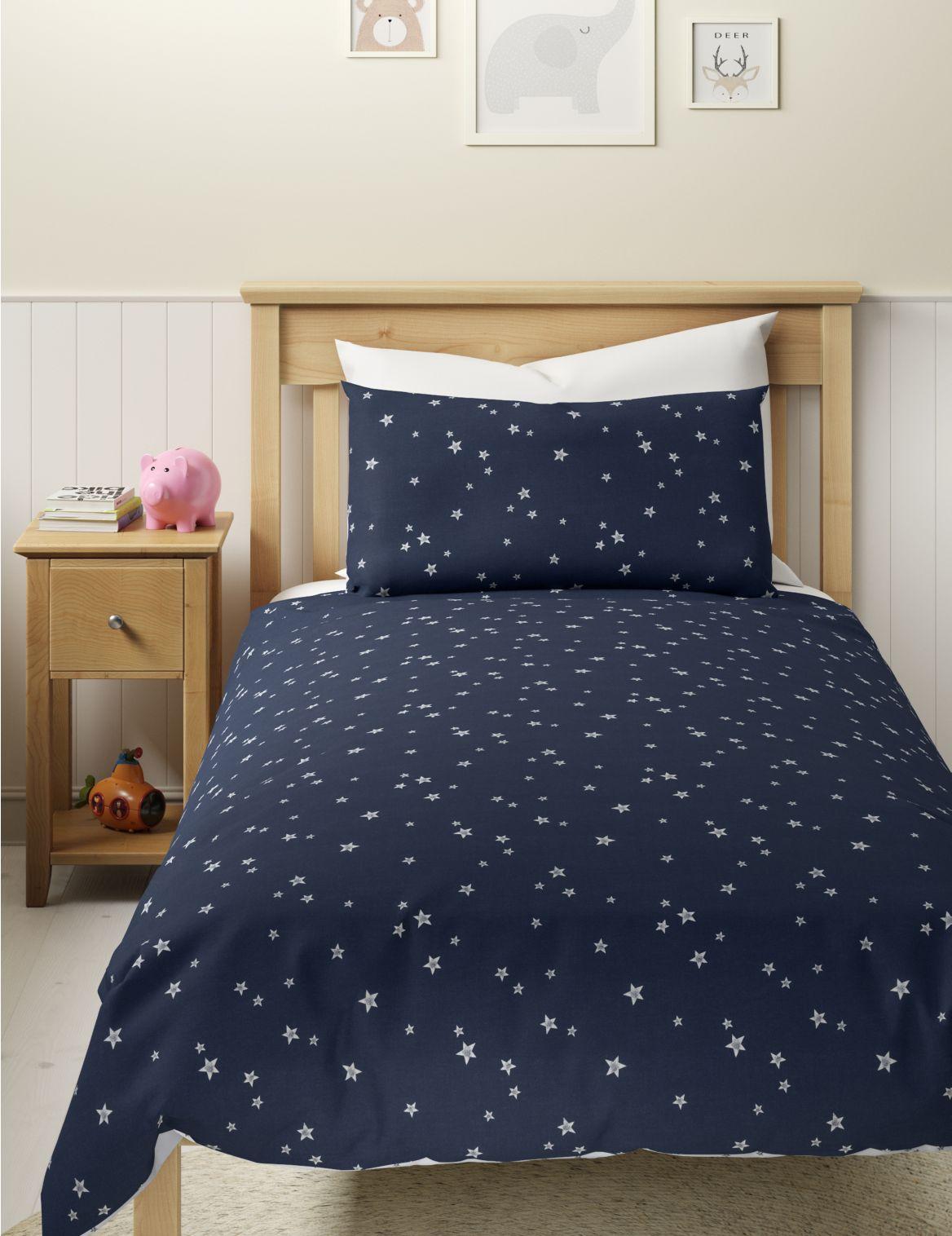 Stars Reversible Bedding Set navy mix