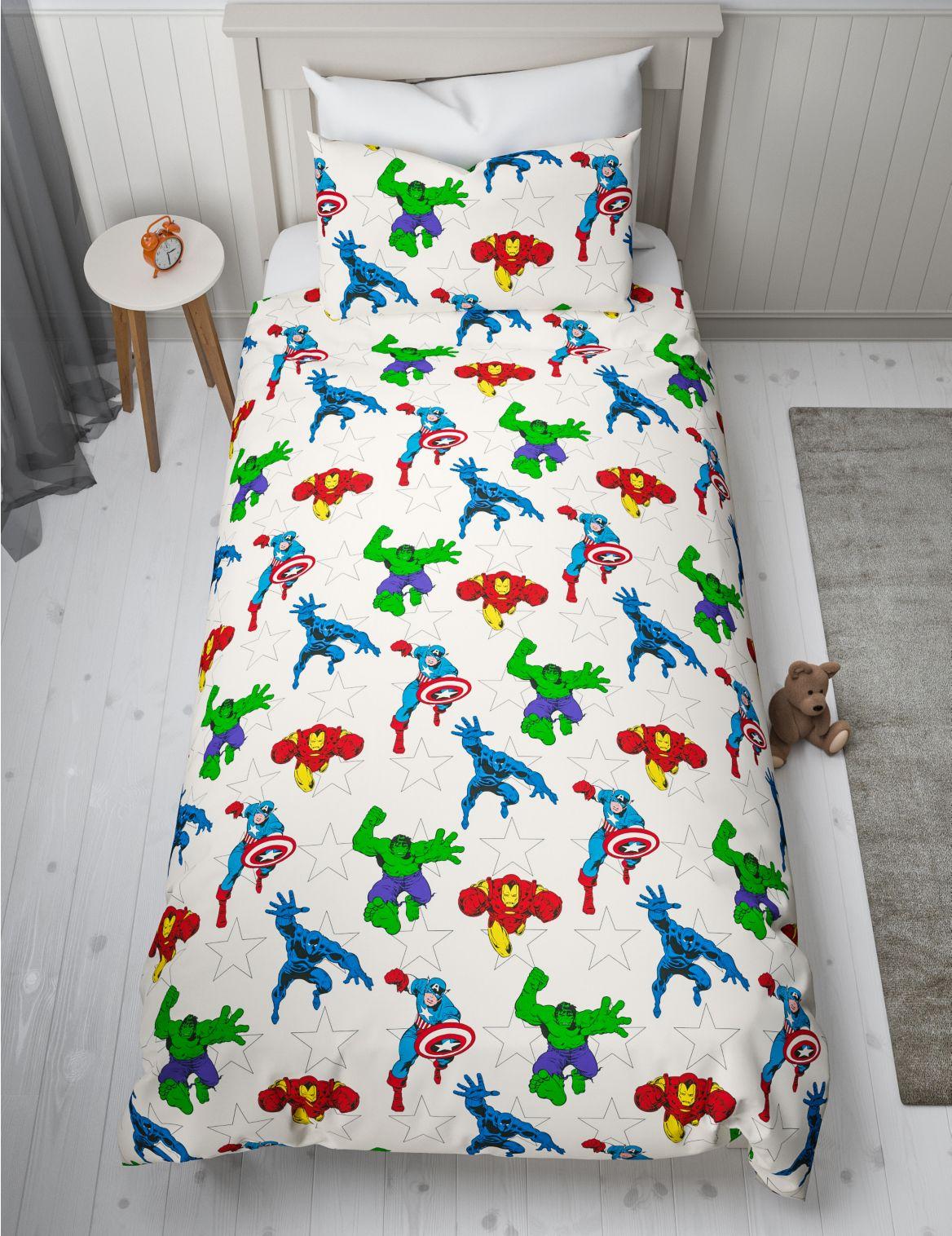 Marvel™ Reversible Bedding Set white mix