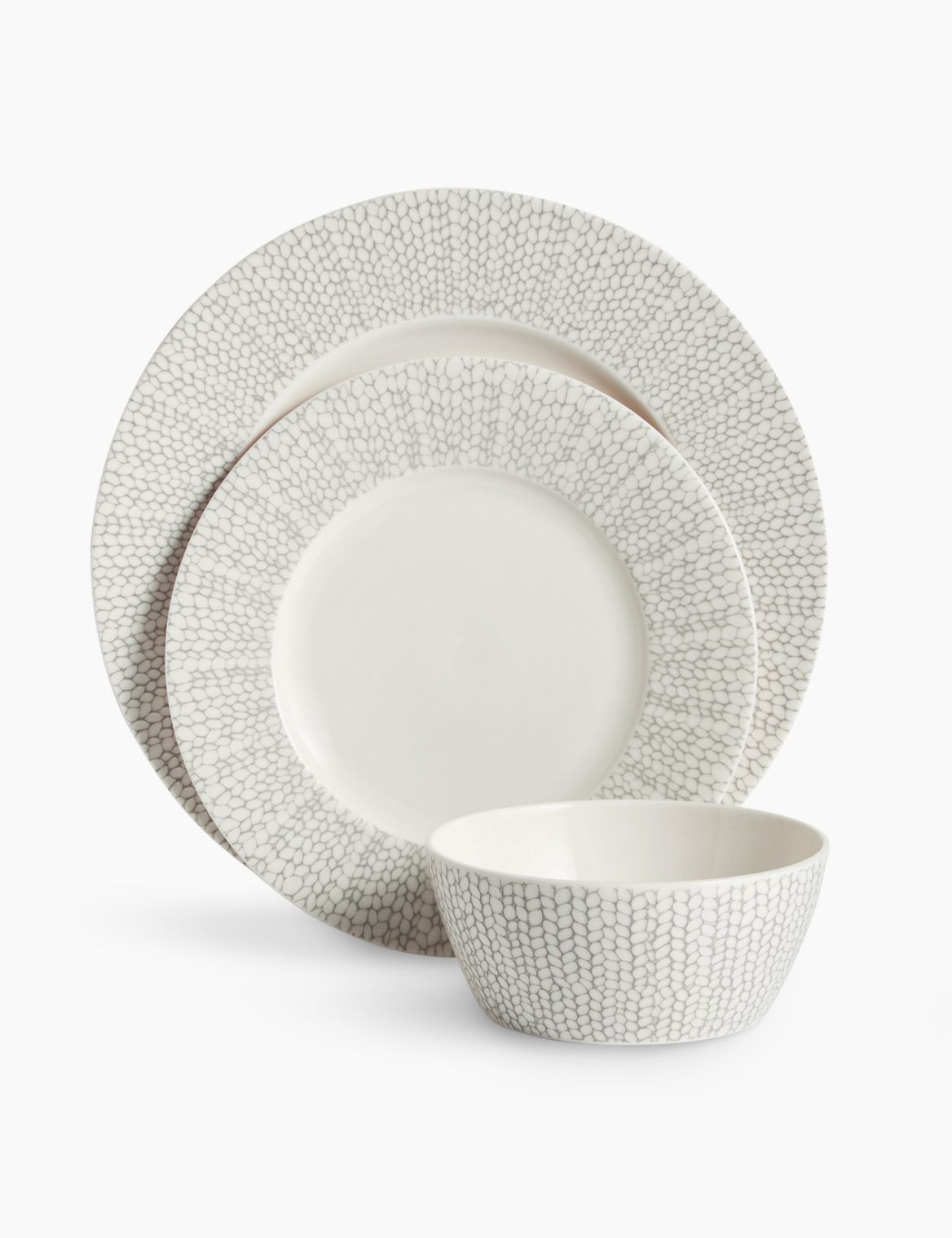 12 Piece Palermo Dinner Set light grey mix