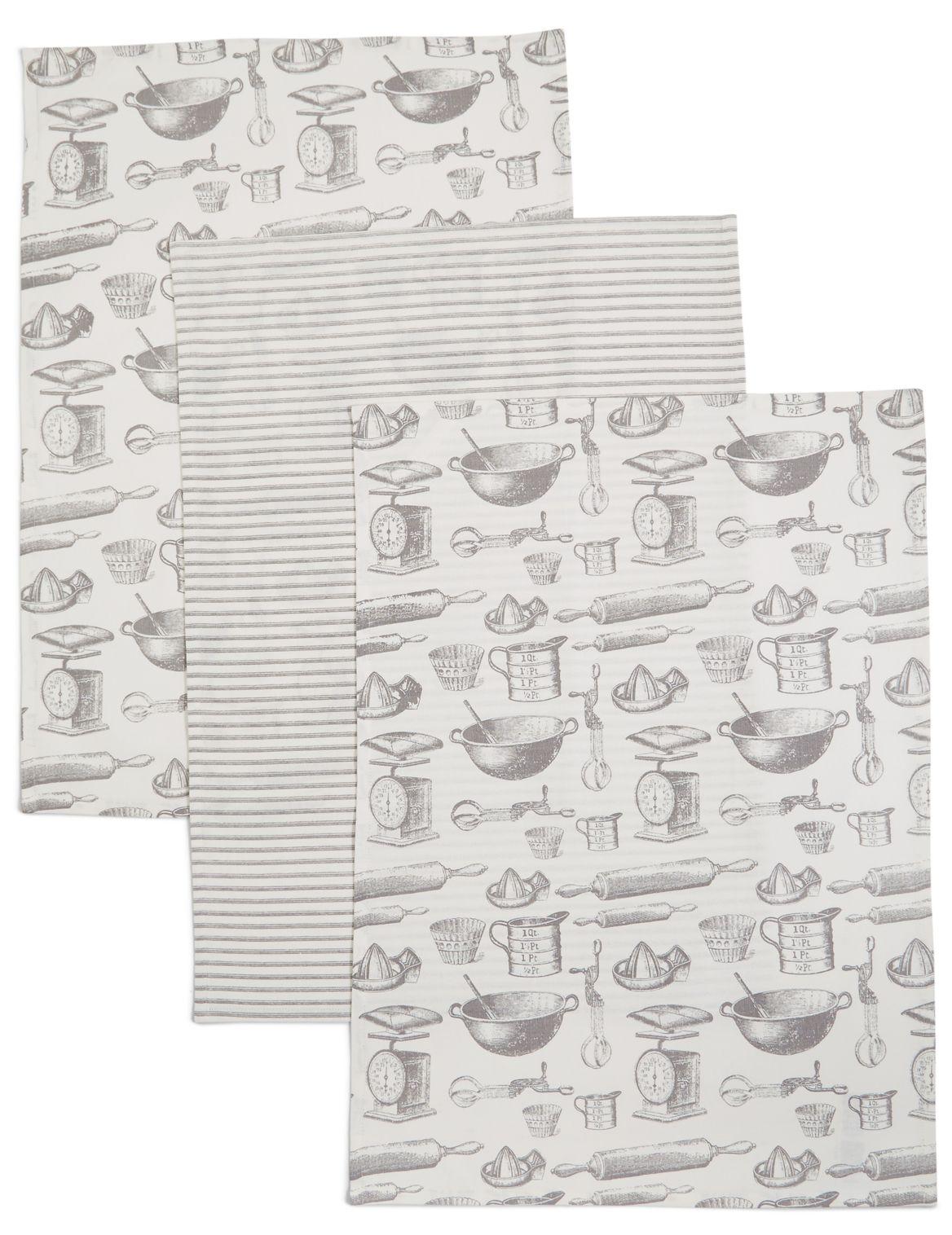 Lot de 3torchon à vaisselle avec imprimÊ pâtisserie
